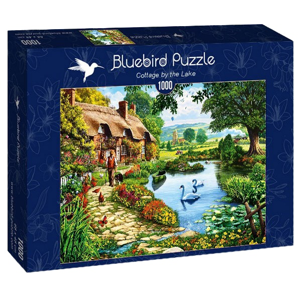 Fotografie Puzzle Bluebird - Cottage by the lake, 1000 piese