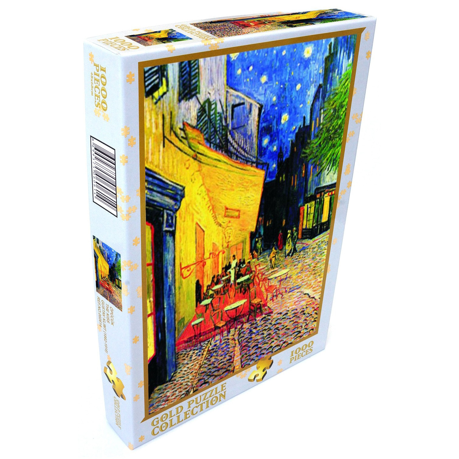 Fotografie Puzzle Gold - Vincent Van Gogh, Cafe terrace at night, 1000 piese