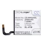 Cameron Sino Akkumulátor 2000 mAh LI-ION (belső Akkumulátor, beépítése szakértelmet igényel, BL-4YW kompatibilis) (Nokia Lumia 925)