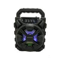 Hordozható vezeték nélküli hangszóró, Bluetooth, AUX, Fekete