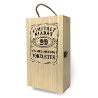 Fa bortartó doboz - 2 üvegnek 20. Születésnapra