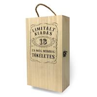 Fa bortartó doboz - 2 üvegnek 18. Születésnapra
