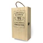 Fa bortartó doboz - 2 üvegnek 70. Születésnapra