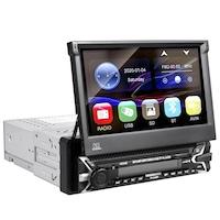 Мултимедия плеър Autoexpress, AC9100,1 Din , Универсален ,Излизащ ръчно ,Тъчскрийн панел, Bluetooth, FM, MP3, MP4, МР5 плейър