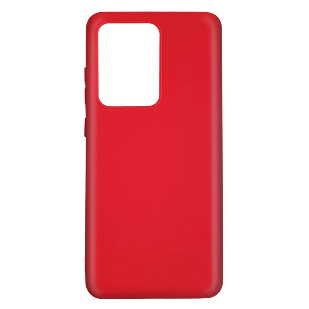 Fotografie Husa de protectie Lemontti Silicon Silky pentru Samsung Galaxy S20 Ultra, Rosu
