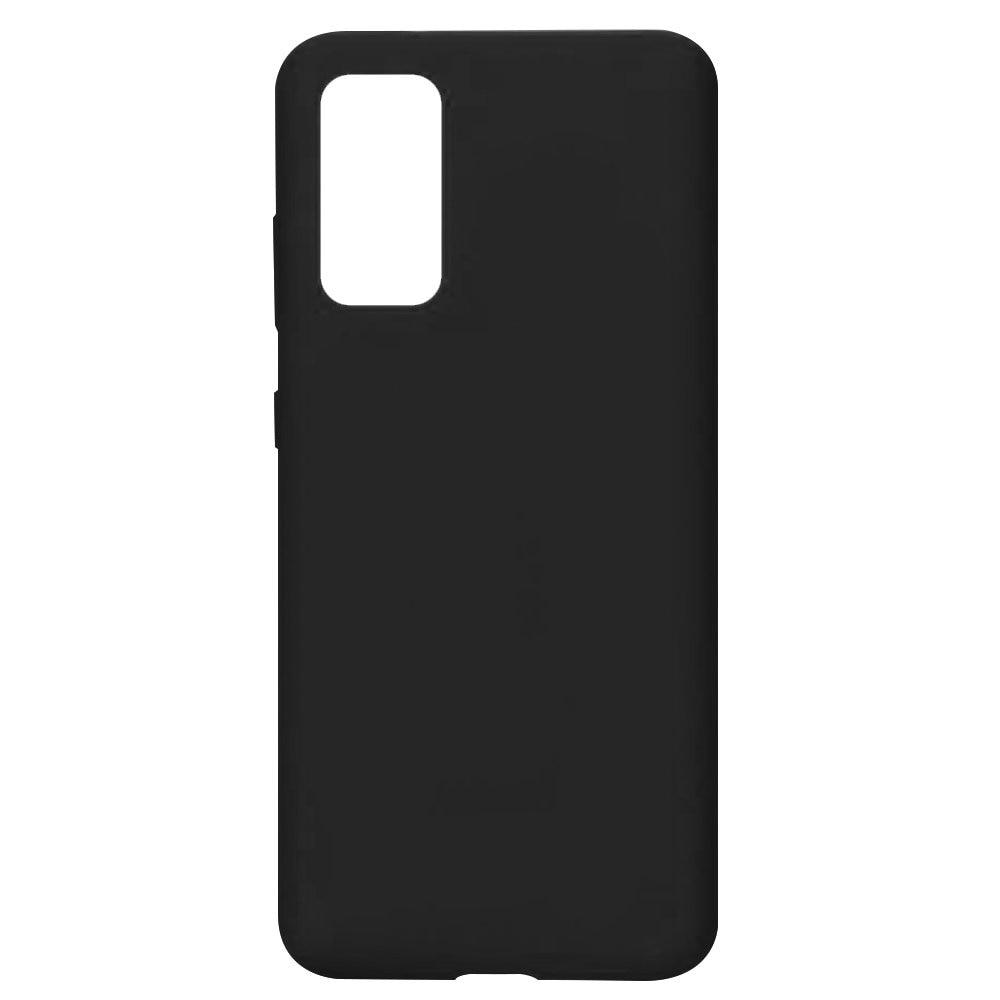 Fotografie Husa de protectie Lemontti Silicon Silky pentru Samsung Galaxy S20 Plus, Negru