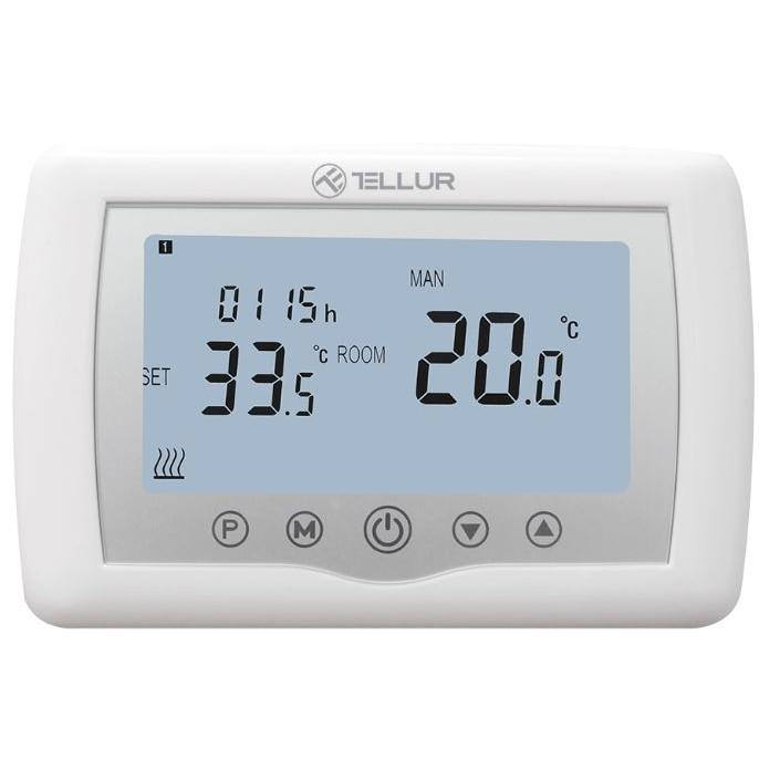 Fotografie Termostat Smart Tellur WiFi, pentru centrala cu Gaz, Universal, Aplicatie