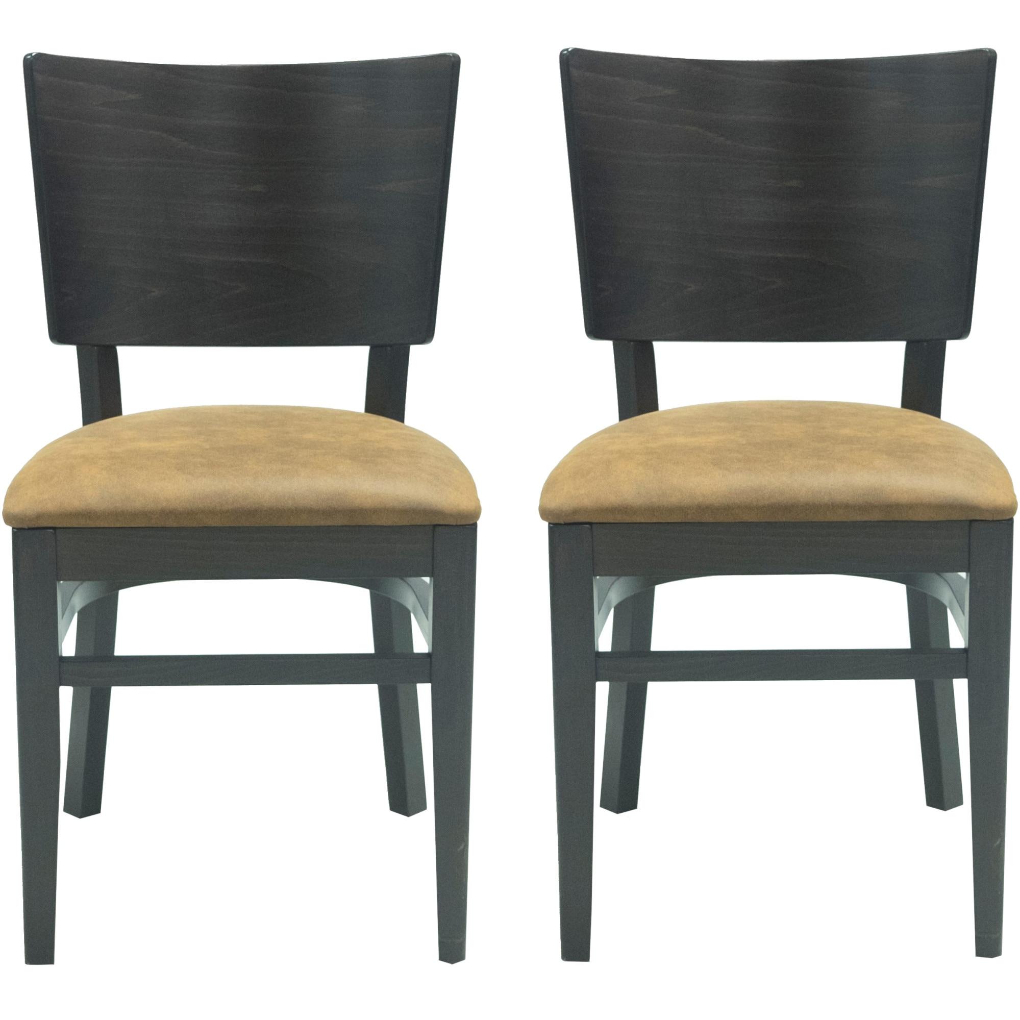 Fotografie Set 2 scaune Kasto Tobias, lemn esenta tare, culoare Wenge Dark