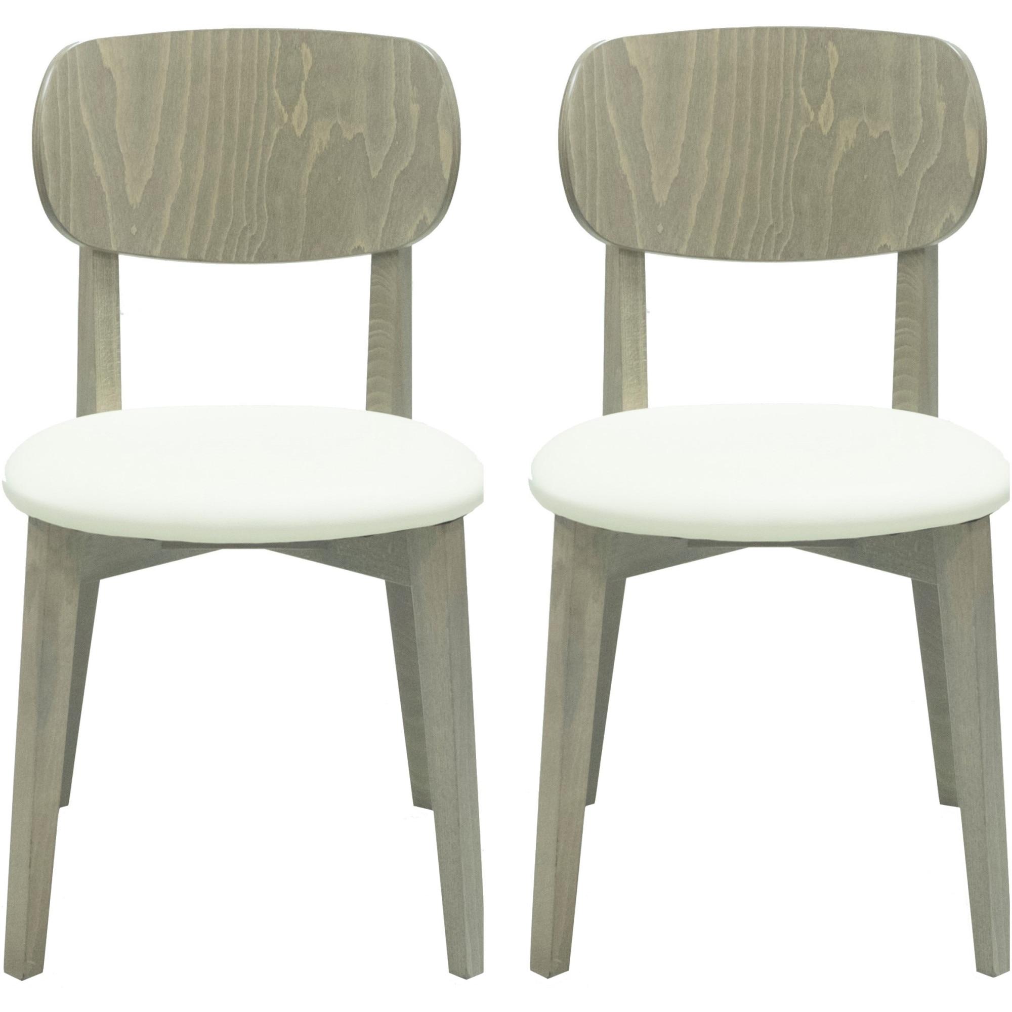 Fotografie Set 2 scaune Kasto Dimmy, lemn esenta tare, culoare Stejar RiverSide