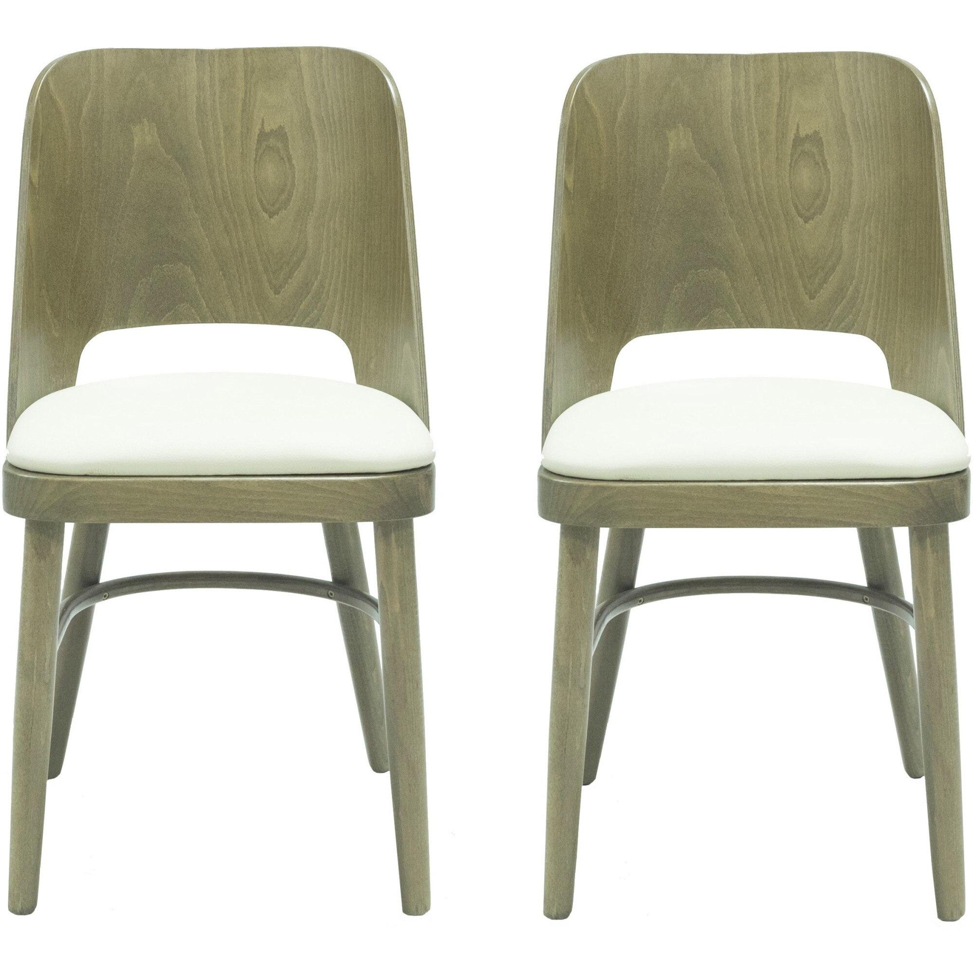 Fotografie Set 2 scaune Kasto Debra, lemn esenta tare, culoare Stejar Dark