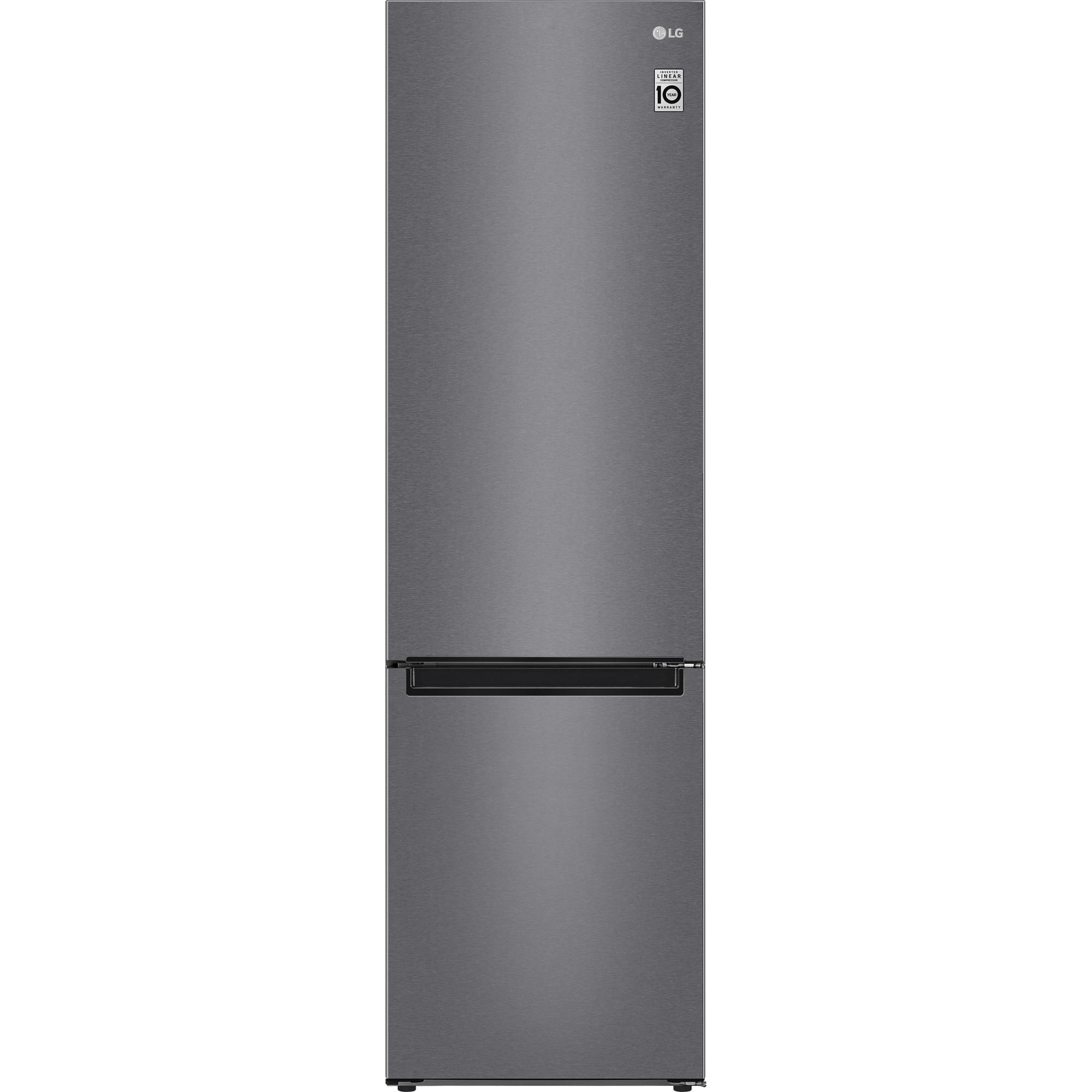 Fotografie Combina frigorifica LG GBP62DSSFR, 384 l, Clasa D, No Frost, Compresor Liniar Inverter, Display, Antracit