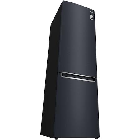 Combina frigorifica LG GBP62MCVFN, 384 l, Clasa A+++, No Frost, Compresor Liniar Inverter, Display, Negru