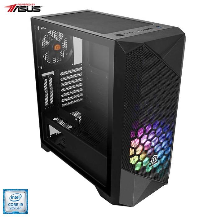 Fotografie Sistem Desktop PC Gaming Serioux Powered by ASUS cu procesor Intel® Core™ i9-9900K pana la 5.0GHz, 32GB DDR4, 1TB SSD M.2 PCIe + 2TB HDD, GeForce® RTX 2080 Super™ 8GB GDDR6