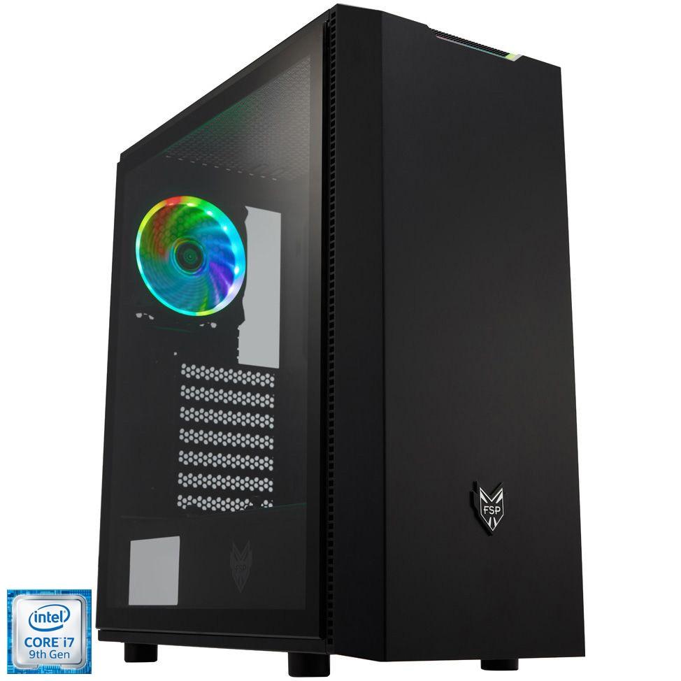 Fotografie Sistem Desktop PC Gaming Serioux cu procesor Intel® Core™ i7-9700F pana la 4.70GHz, 32GB DDR4, 250GB SSD M.2 PCIe + 1TB HDD, GeForce® RTX 2070 8GB GDDR6