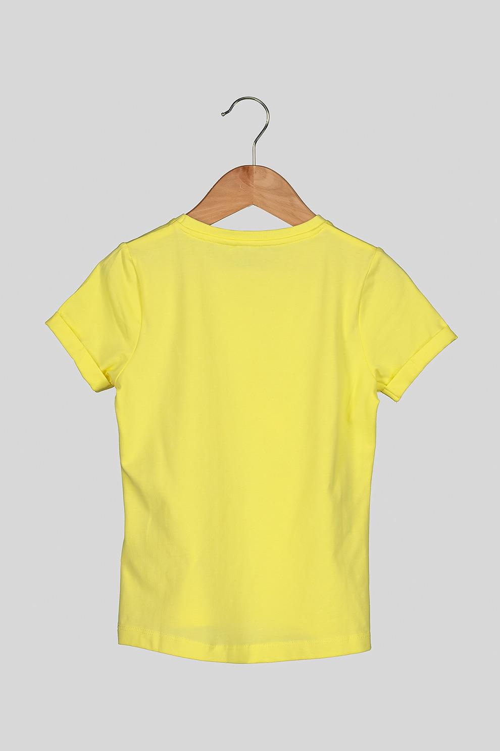 NAME IT, Kerek nyakú mintás póló, Sárga, 116 CM Standard eMAG.hu