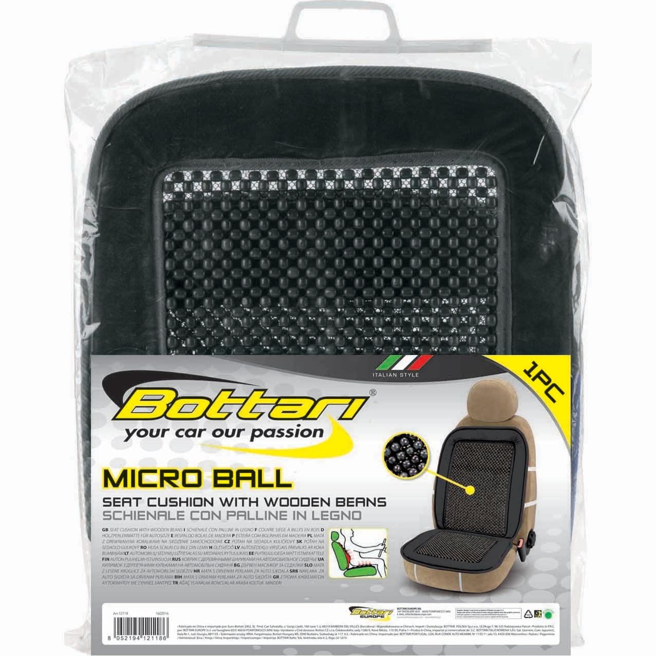 Fotografie Husa auto Bottari Micro Ball cu micro bile din lemn, negru