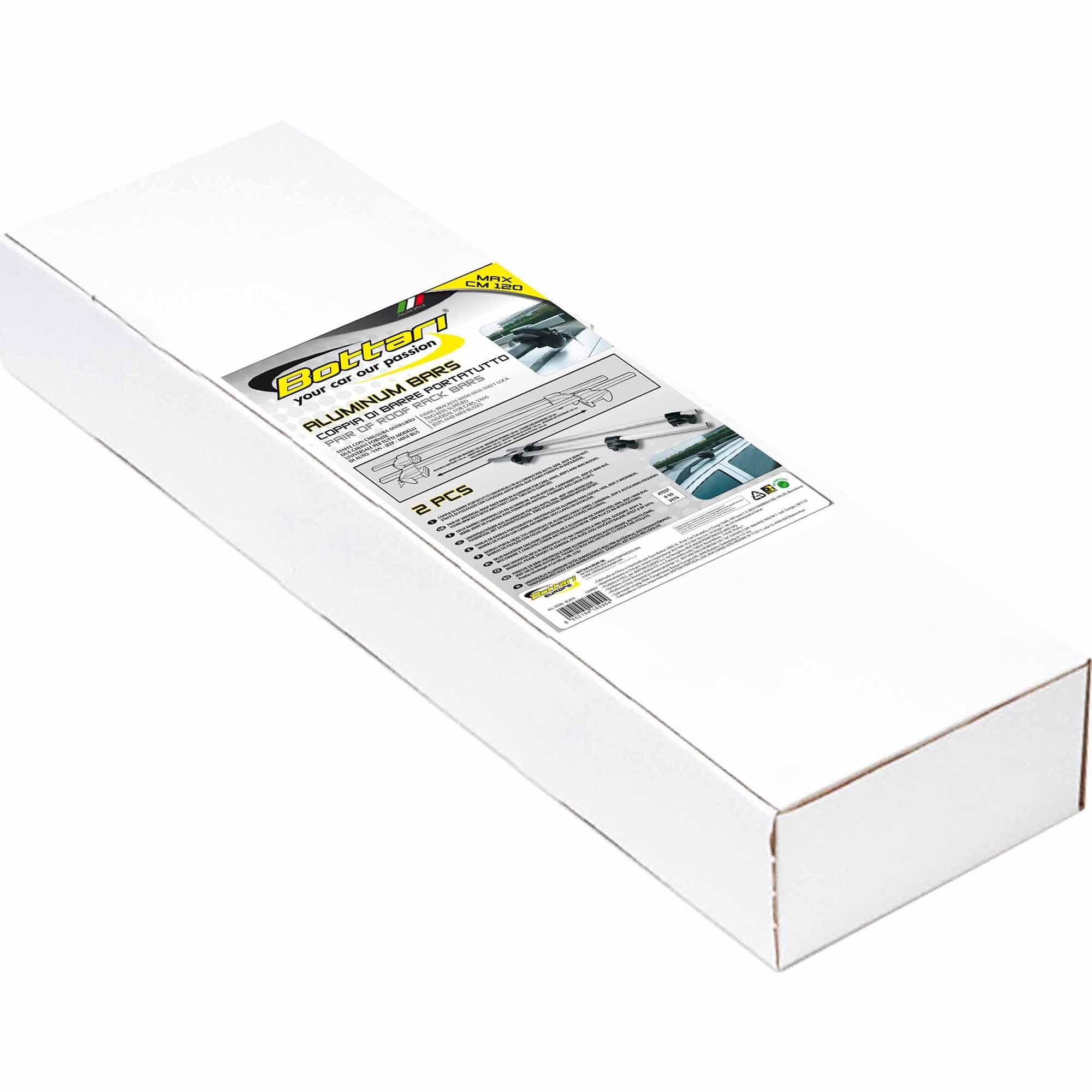 Fotografie Bare transversale universale Bottari Aluminium Bars, aluminiu/negru