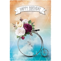 Картичка Gespansterwald Silver Line, Happy Birthday, колело