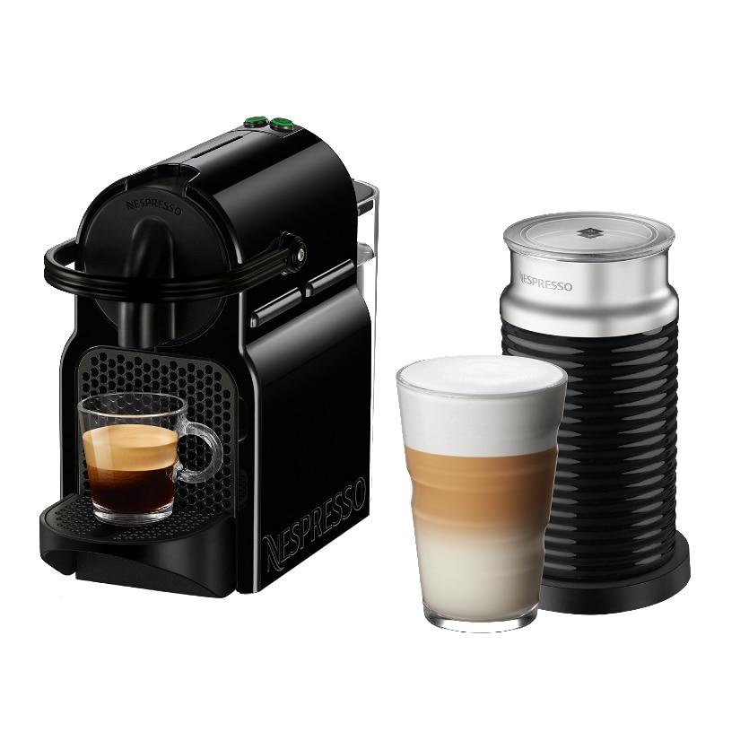 Fotografie Pachet Espressor NESPRESSO® Inissia Black D40,19 bari, 1260 W, 0.7 l + Aparat pentru spuma de lapte Aeroccino3, Negru