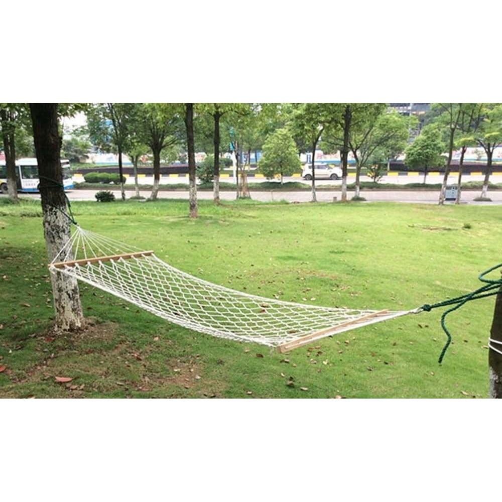 Hamac Single Tip Plasa Pentru Curte Sau Gradina 250x80cm 120kg Alb Emag Ro