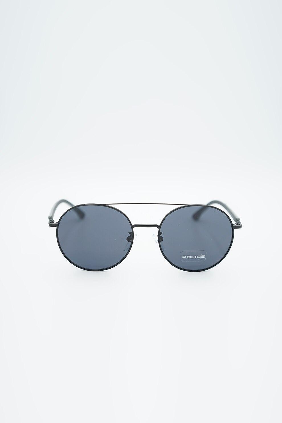 Police, Kerek napszemüveg fémkerettel, Grafit, 54 18 135 Standard
