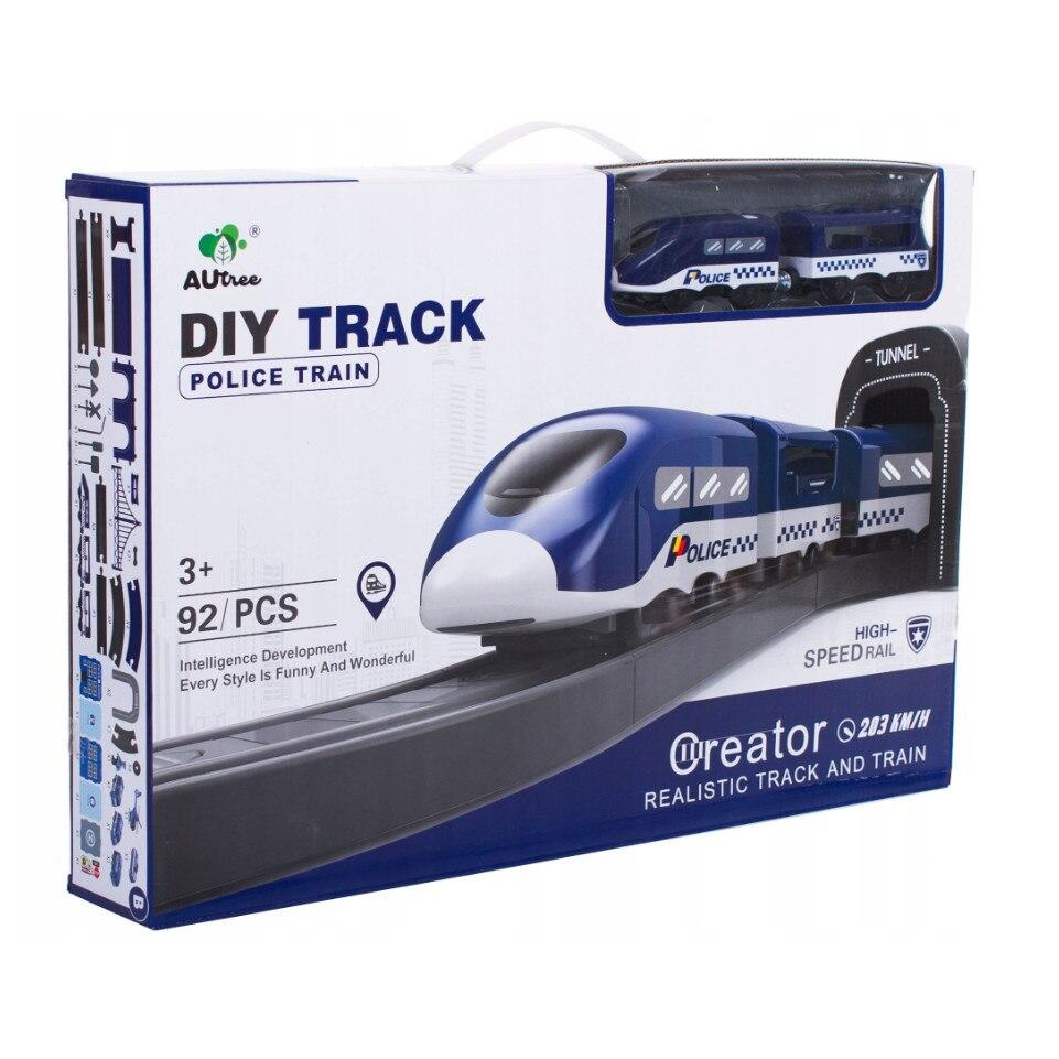 Fotografie Circuit tren electric M-Toys Police cu accesorii, 92 piese