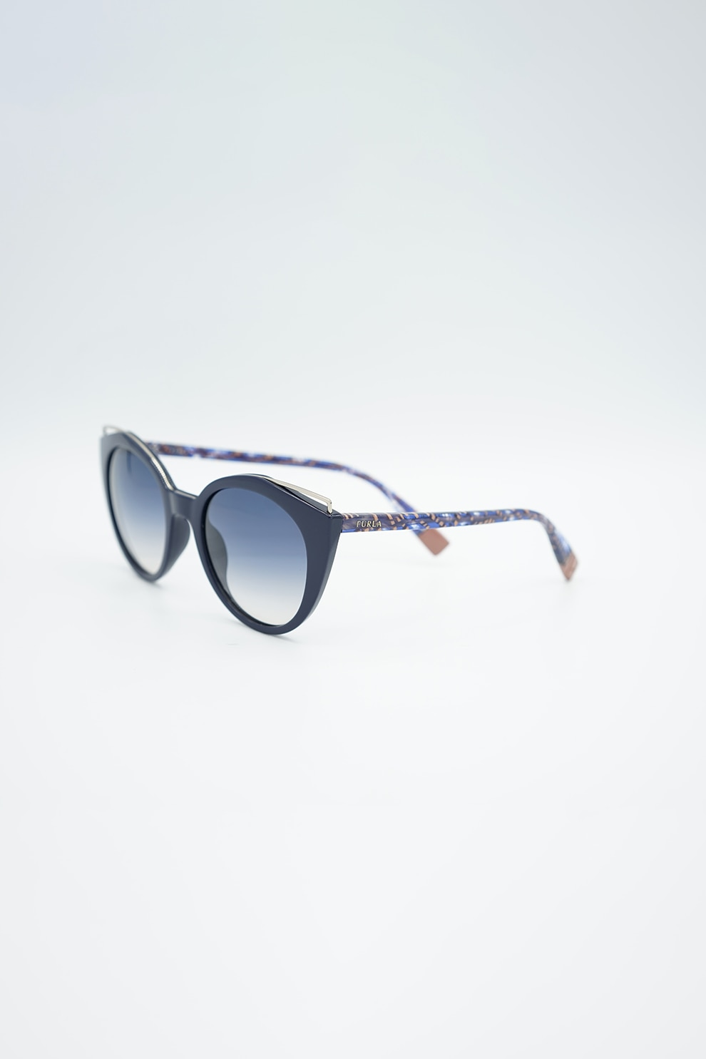 Fotografie Furla, Ochelari de soare cat-eye, cu lentile polarizate, Albastru, 51-21-140 Standard