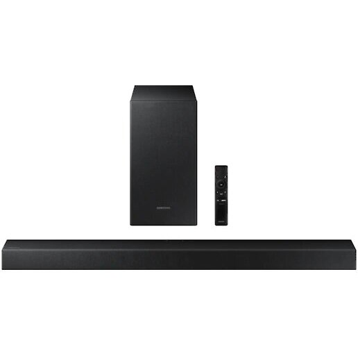 Fotografie Soundbar Samsung HW-T430, 2.1 Canale, 170W, Wireless Subwoofer, Bluetooth, Negru
