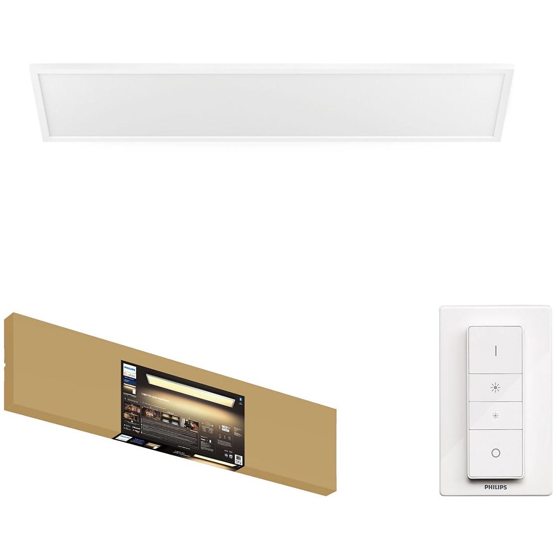Fotografie Panou LED integrat Philips Aurelle Hue, Bluetooth, 46.5W, 4200 lm, 1200x300 mm, intrerupator inclus