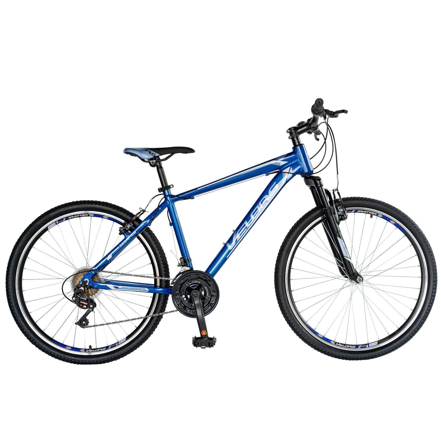 "Fotografie Bicicleta MTB 26"" Velors V2671, cadru AL, janta dubla, Albastru/Gri"