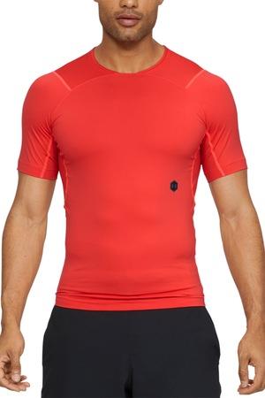 Under Armour, Tricou elastic de compresie, pentru fitness Rush, Rosu, M