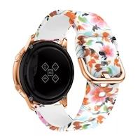 Каишка за часовник Spulse за Samsung Galaxy Watch Active, 20 mm, Flowers