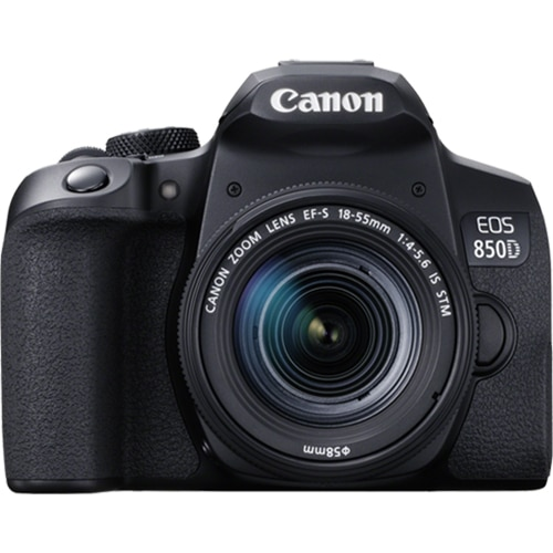 Fotografie Aparat foto DSLR Canon EOS 850D, 24.1 MP, 4K, Negru + Obiectiv EF-S 18-55mm IS