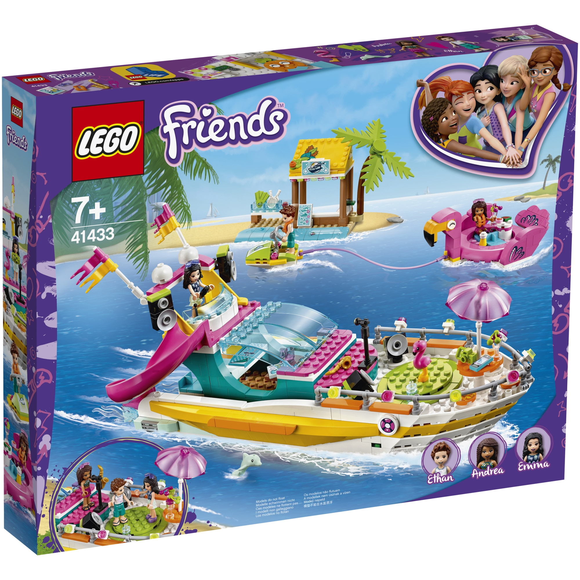 Fotografie LEGO Friends - Petrecerea pe barca 41433, 640 piese