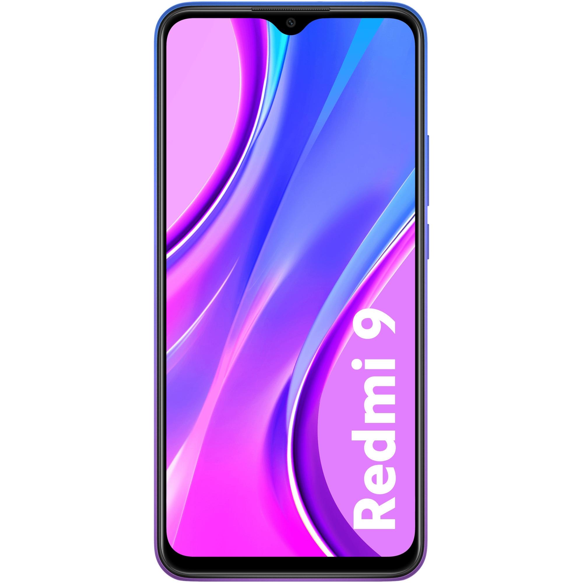 Fotografie Telefon mobil Xiaomi Redmi 9, Dual SIM, 32GB, 3GB RAM, 4G, Sunset Purple