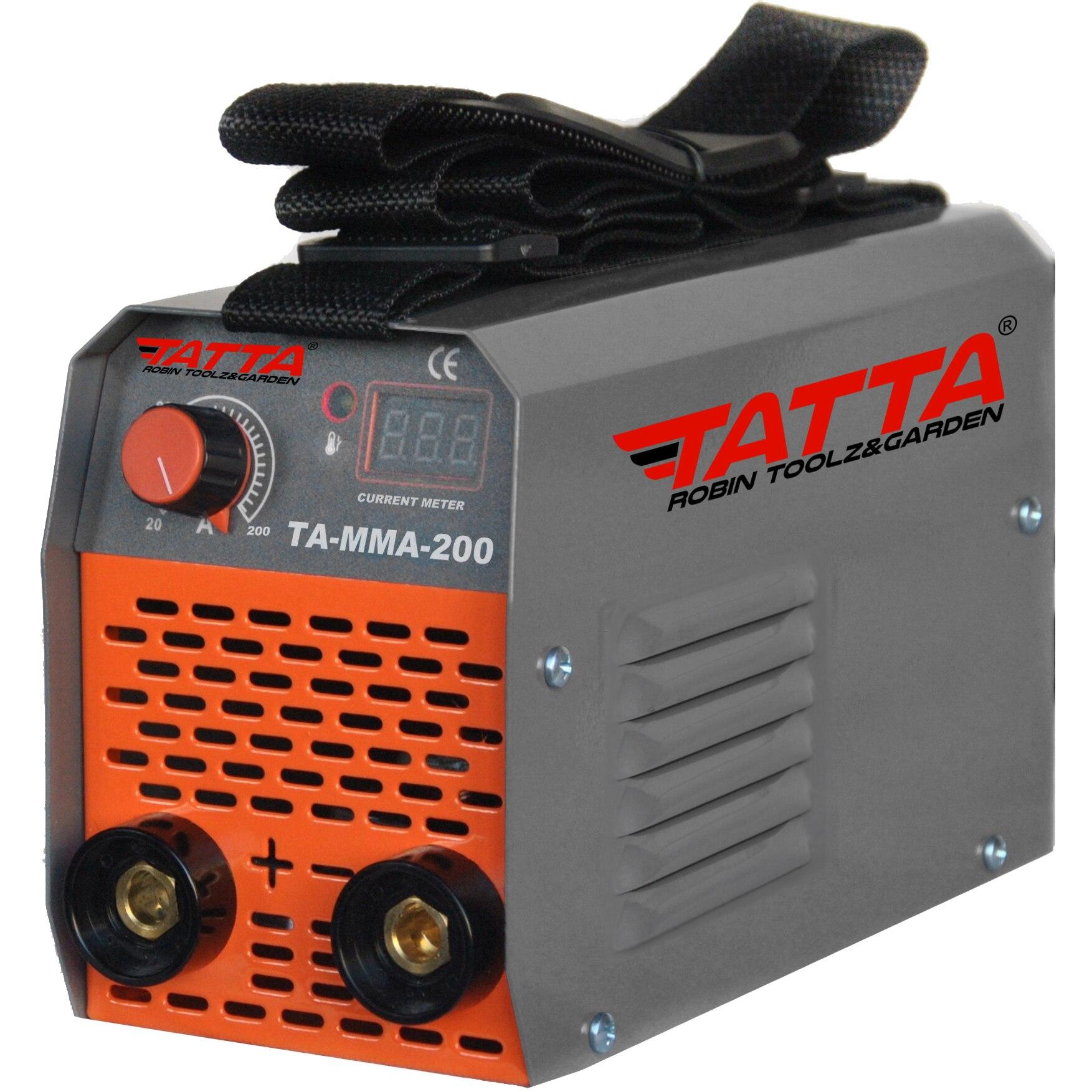 Fotografie Aparat de sudura Tatta TA-MMA-200, putere absorbita 7.1 kVA, eficienta85%, electrod 1.6-3.2 mm