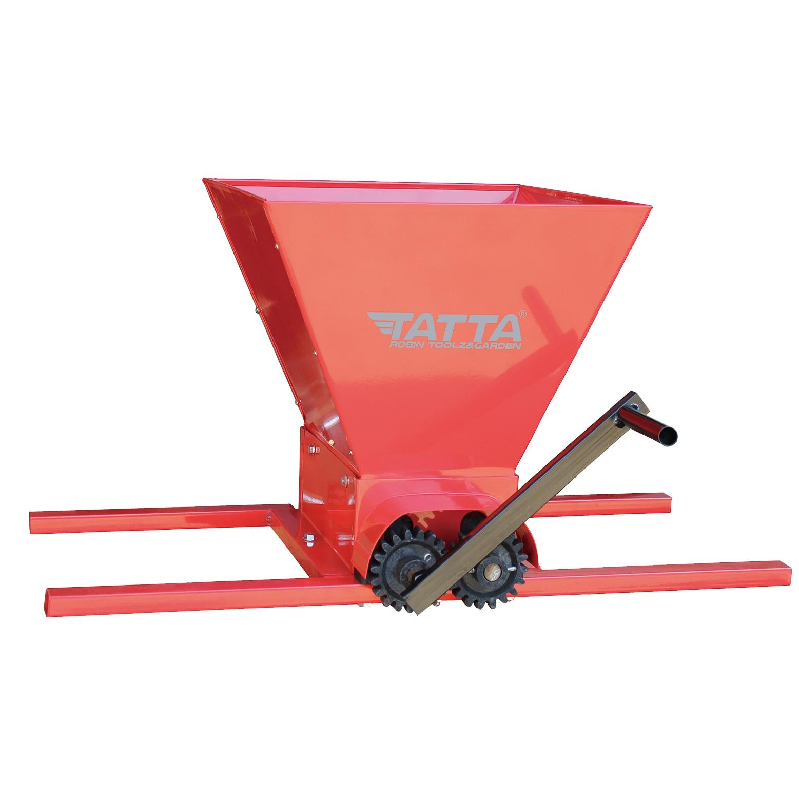 Fotografie Zdrobitor de struguri Tatta TZ-1802 RS, capacitate maruntire 300 kg/h, cuva 25 l, Fier, Rosu