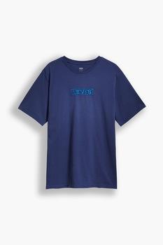 Levi's, Mintás póló hímzett részlettel, Tengerészkék