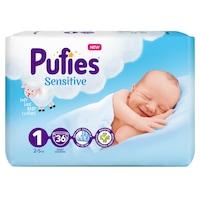 Pufies Sensitive Pelenka, 1 Newborn, New born Pack, 2-5 kg, 36 db
