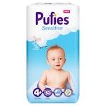 Pufies Sensitive Pelenka, 4+ Maxi+, Maxi Pack, 10-15 kg, 52 db