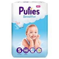 Pufies Sensitive Pelenka, 5 Junior, Maxi Pack, 11-16 kg, 48 db