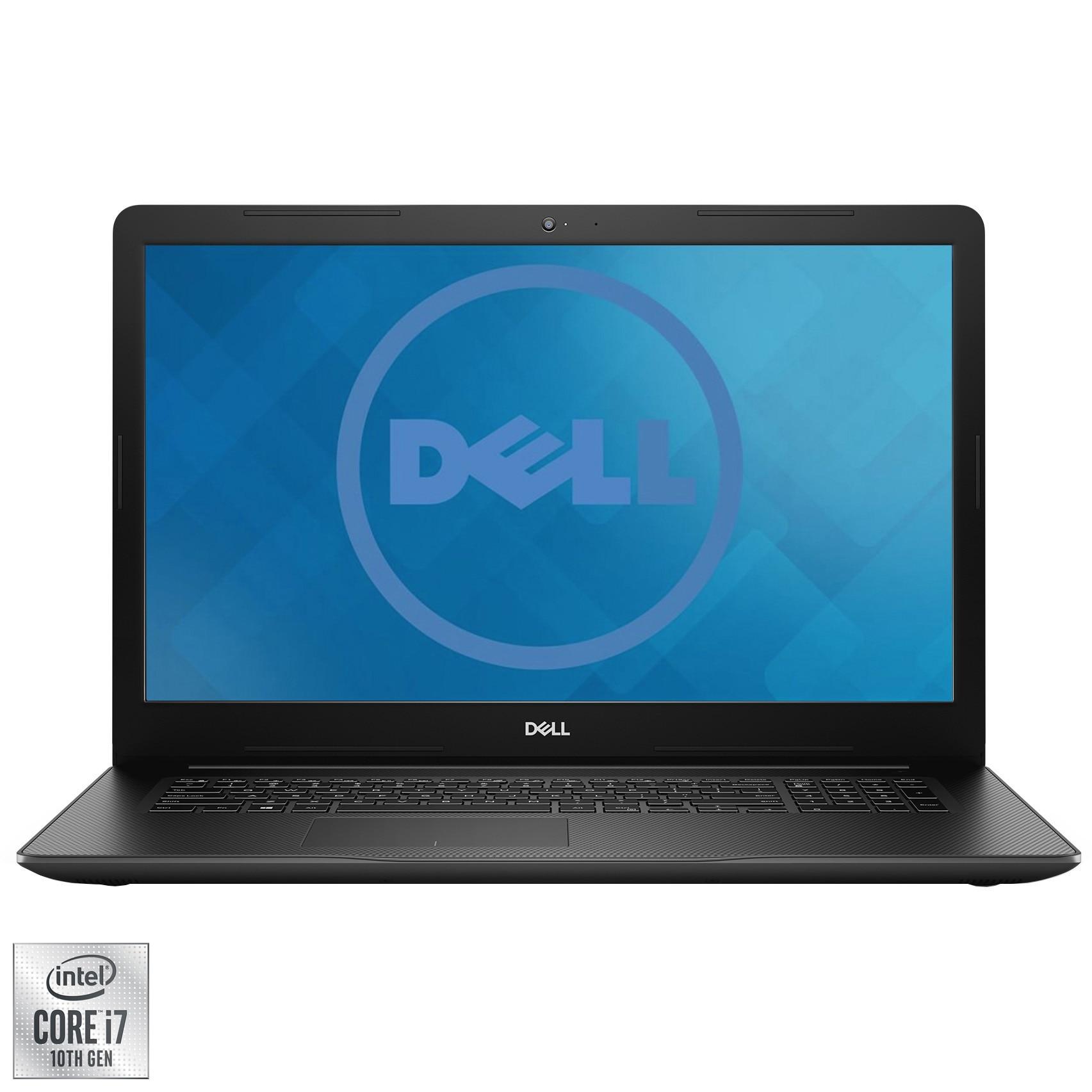 "Fotografie Laptop Dell Inspiron 3593 cu procesor Intel Core i7-1065G7 pana la 3.90 GHz, 15.6"", Full HD, 8GB, 512GB SSD, Intel Iris Plus Graphics, Ubuntu, Black"