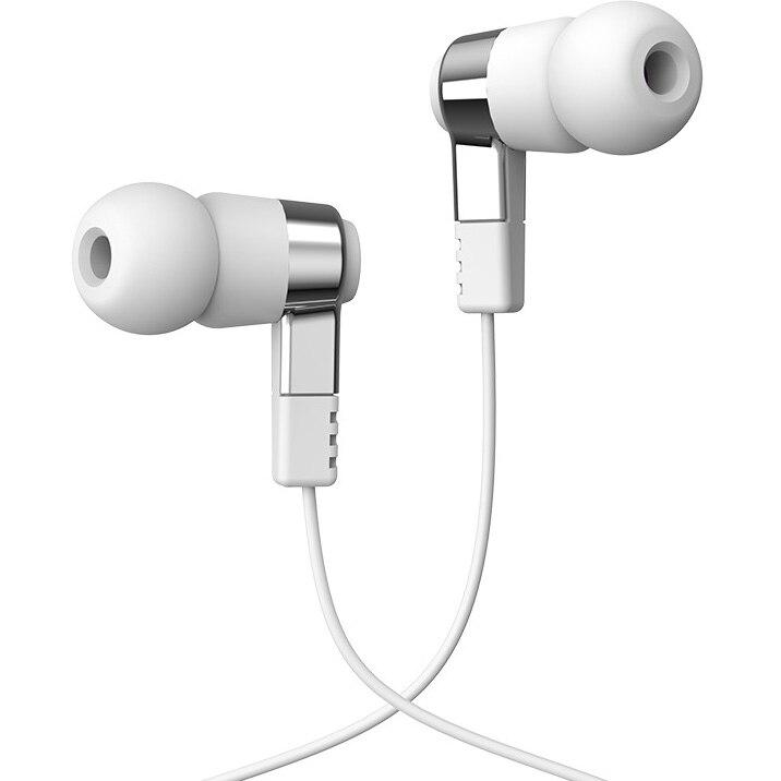 Fotografie Casti audio in-ear Hoco M52, stereo, jack 3.5mm, microfon, 1.2m, Alb