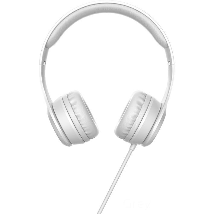 Fotografie Casti audio on-ear Hoco, W21 Graceful, jack 3.5mm, Microfon, 1.2m, Alb