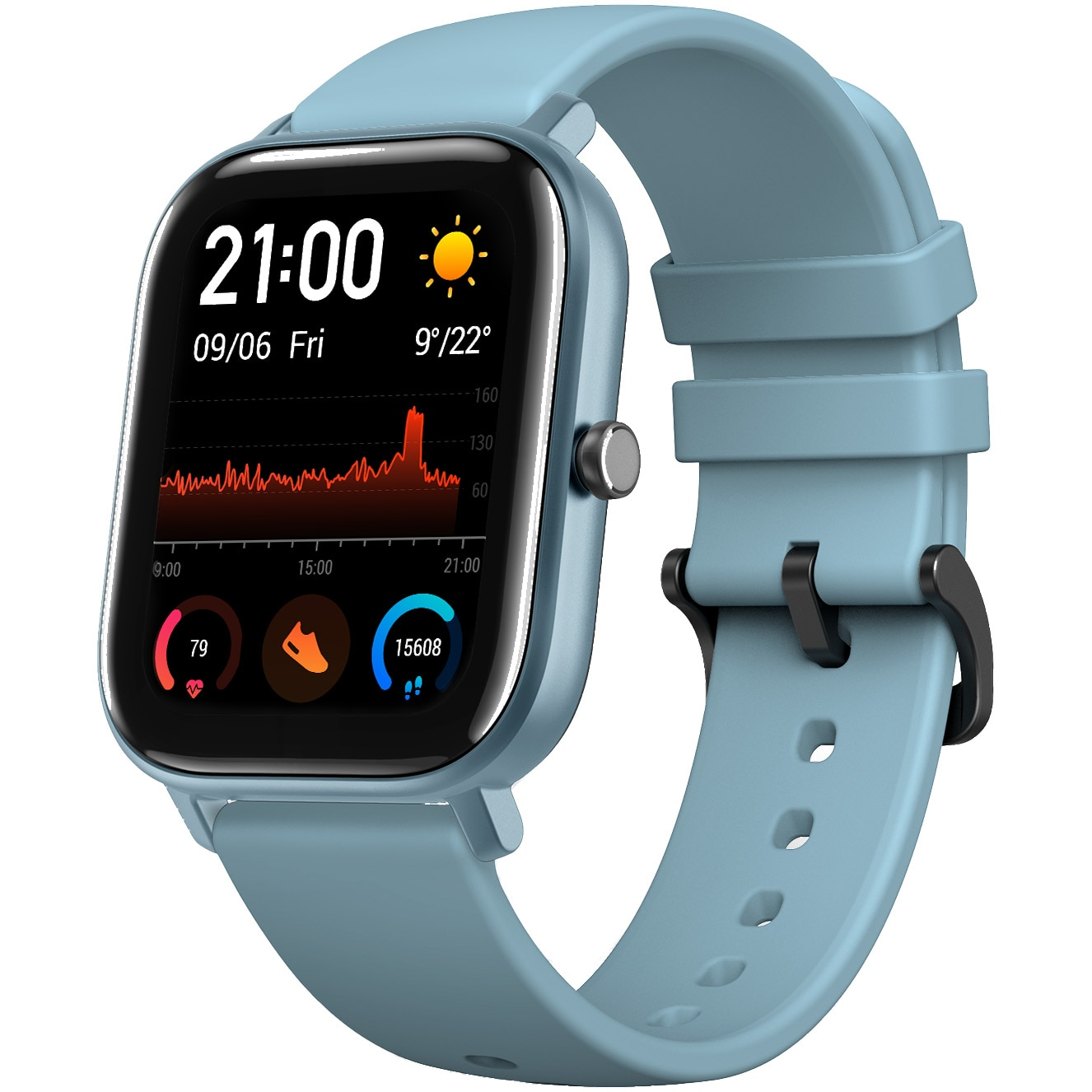 Fotografie Ceas smartwatch Amazfit GTS, Steel Blue
