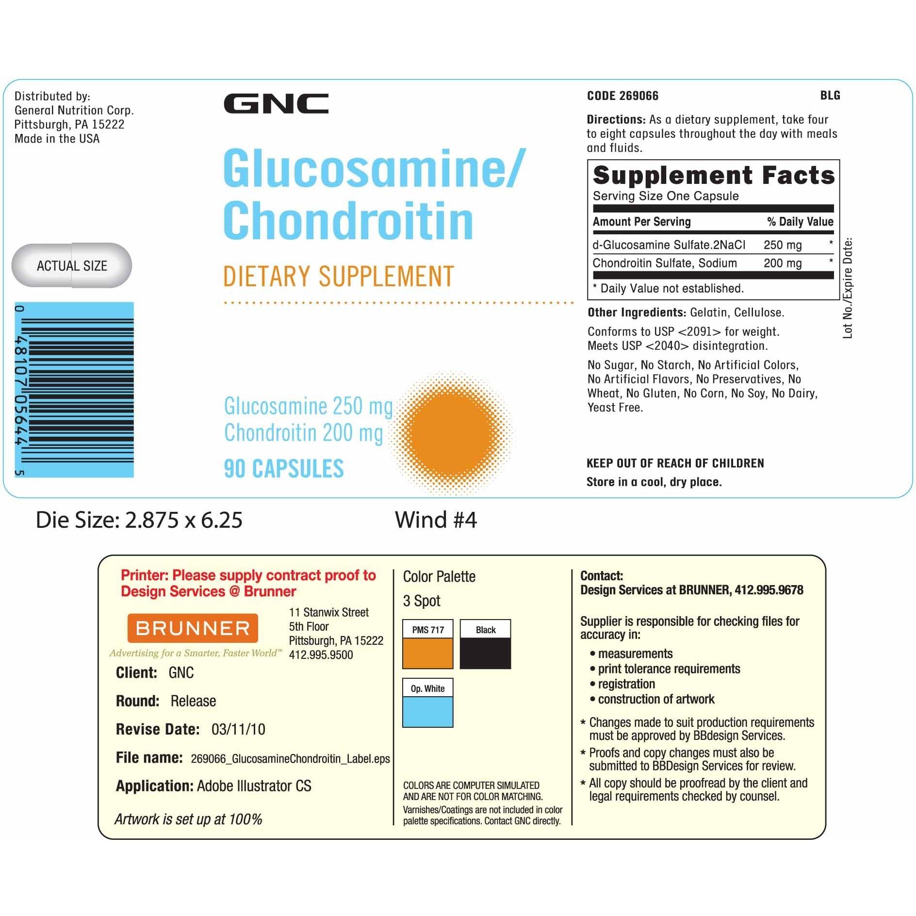 compoziția capsulei glucosaminei condroitină