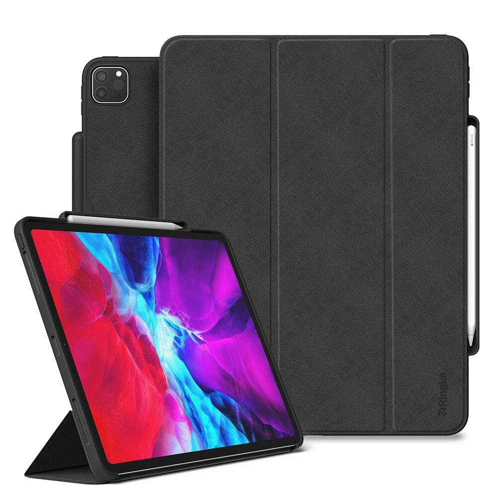 """Fotografie Husa de protectie Ringke Flip Smart pentru Apple iPad Pro 2020 12.9"""", Negru"""