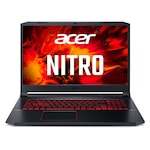 Лаптоп Acer Nitro 5 AN517-52-78Y0 с Intel Core i7-10750H (2.6/5GHz, 12M), 8 GB, 1TB SATA 7200rpm, 256GB M.2 NVMe SSD, NVIDIA RTX 2060 6GB GDDR6, Windows 10 Home 64-bit, черен