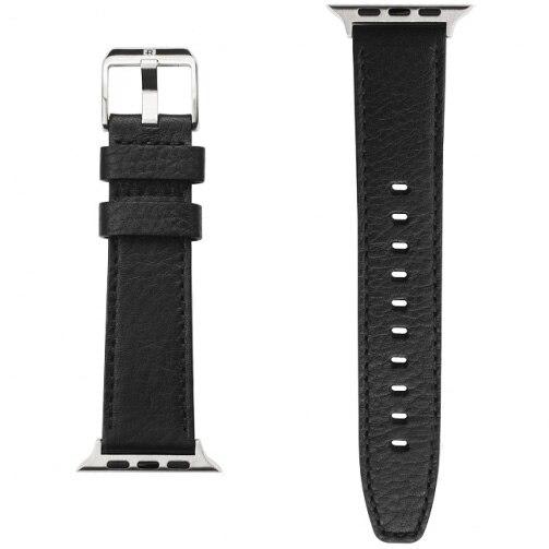 Fotografie Curea din piele Ringke Leather One Classic Band pentru Apple Watch 42mm / 44mm, Negru