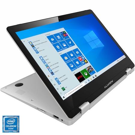 "Лаптоп 2в1 ALLVIEW ALLBOOK Y-100, 11.6"", Intel® Celeron® N4000, RAM 4GB, 32GB Flash, Intel® HD Graphics, Microsoft Windows 10, Silver"